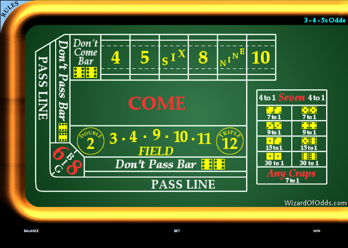 craps game table