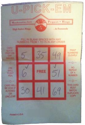 4 card keno jackpots foxwoods bingo