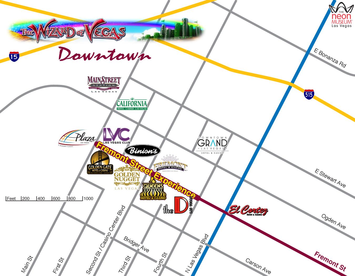 Las Vegas Maps  Wizard of Vegas