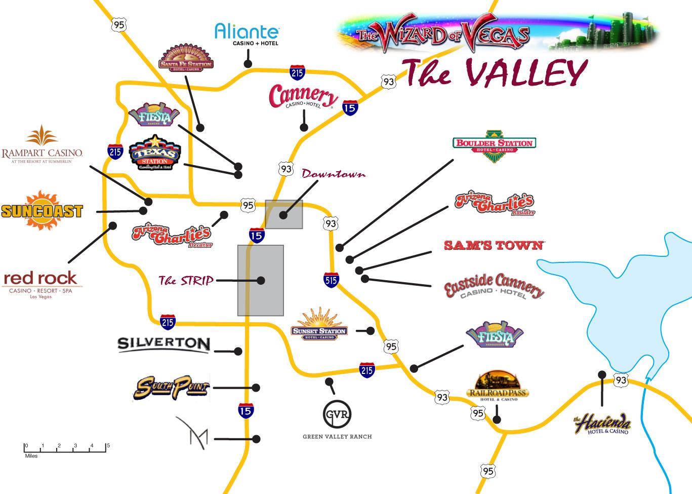 Las Vegas Maps - Wizard of Vegas